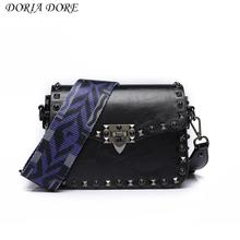 Bags For Women 2017 Female Daidaihua Orange Bag Tide Fashion Satchel Ribbon Rivet Small Package Wide Straps BangalorMessenger