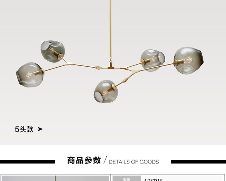 Moderne En Verre Pendentif Lumière Nordique Salle À Manger Cuisine Lumière Concepteur Suspendus Lampes Avize Lustre Éclairage - 3