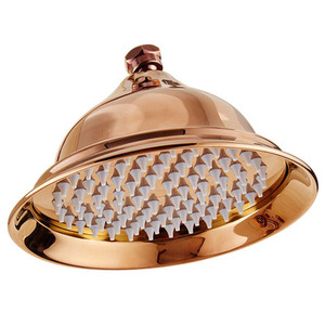 Image 4 - 8 inch עגול זהב, עלה זהב, כרום, עתיק, שחור מוצק רחצה פליז נחושת גשם מקלחת ראש