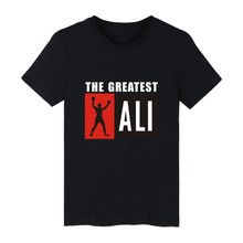 THE REATEST ALI White Cotton T-shirt ood looking and Durable THE REATEST ALI T-shirt Men Street Wear with high quality