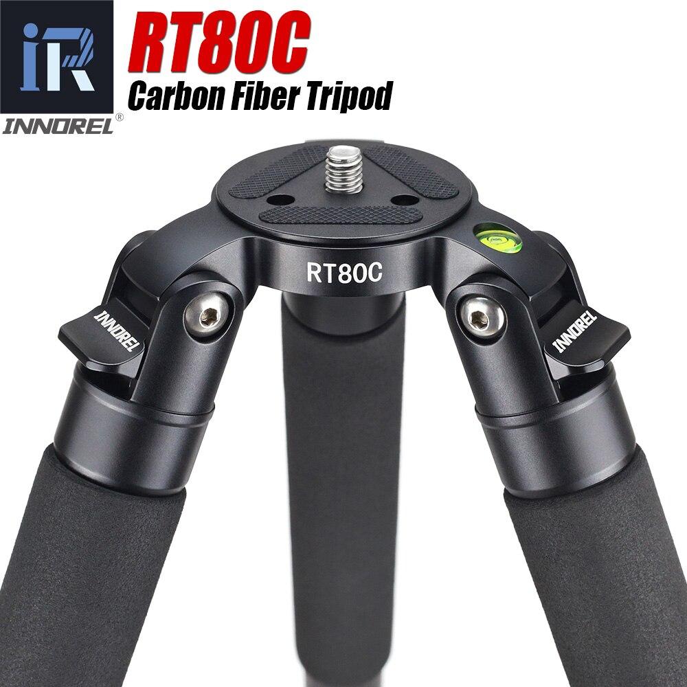 RT80C de carbono Profissional tripé para DSLR camera filmadora Heavy duty 20 kg carga máxima tigela tripé suporte da câmara de observação de aves