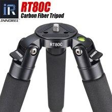 Trípode de carbono profesional RT80C para cámara DSLR, videocámara de vídeo, resistente, 20kg, carga máxima, plato para trípode, soporte para cámara de Observación de Aves