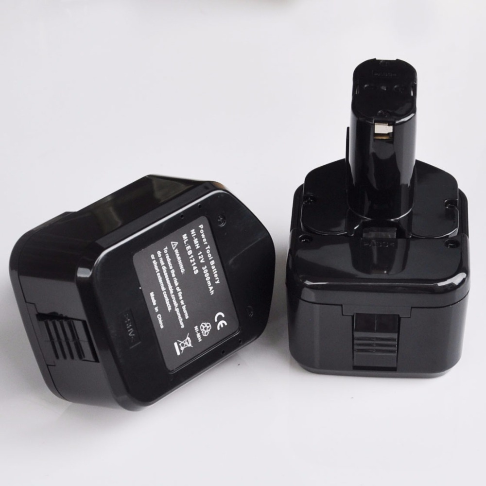 US <font><b>12V</b></font> 3.0Ah Rechargeable NI-MH <font><b>Battery</b></font> Replace for Hitachi cordless Electric drill screwdriver EB1214L EB1214S EB1230R image