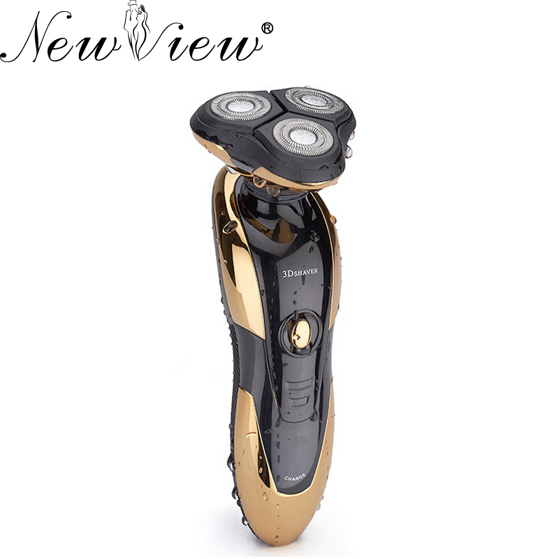 NewView Rechargeable Electric Shaver 3D Washable Shaving Head Beard Mens Razor philips brl130 satinshave advanced wet and dry electric shaver