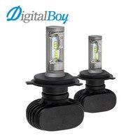 Digitalboy H4 LED Bulbs All In One Auto Car Headlight High Low Beam 50W 8000LM Car