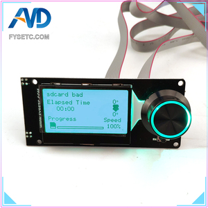Image 4 - MINI12864 LCD Display Screen mini 12864 V1.2 LCD Smart Display 128x64 5V Support Marlin DIY SKR With SD Card For 3D Printer Part