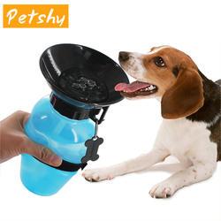 Petshy питьевая вода для собак мл 500 бутылка ПЭТ щенок кошка Спорт портативный путешествия открытый подачи чаша Питьевая кружка чашки