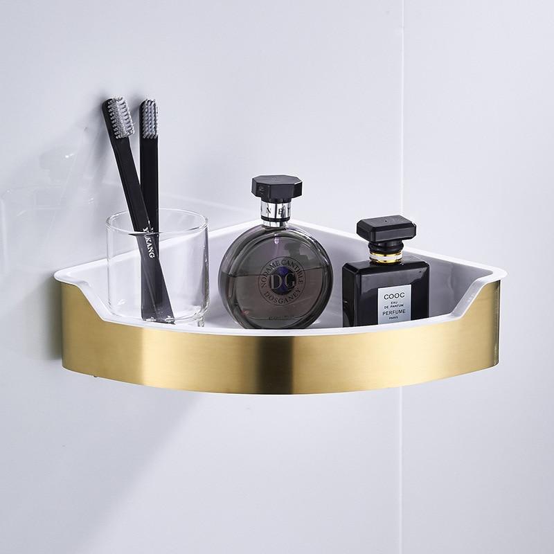 Corner Shower Caddy Shelf Double Basket Rack Soap Shampoo Organiser Matte Black
