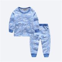Baby Girls Boys Long Johns Winter Clothing Set Shirt Pants 2pcs Suit Children Underwear Kids Thermal
