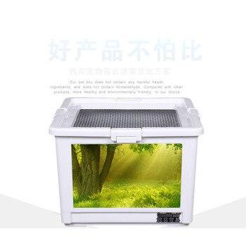 Breathable Grid Plastic Transparent Reptiles Living Box Reptile Terrarium Ideal Habitat for Scorpion Spider Ants Chameleon 1