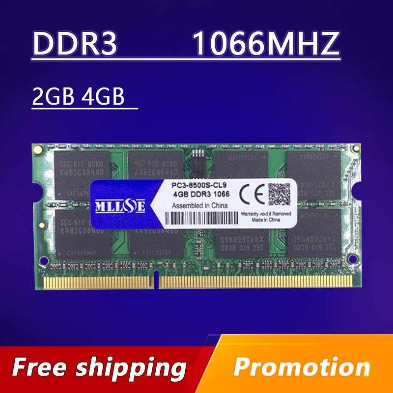 MLLSE ddr3 ram 2 ギガバイト 4 ギガバイト 8 ギガバイト 1066 pc3-8500 sodimm ノートパソコン、メモリ ddr3 1066 mhz 4 ギガバイト pc3-8500s sdram ノートブック、 ddr3 1066 4 ギガバイト 4 グラム