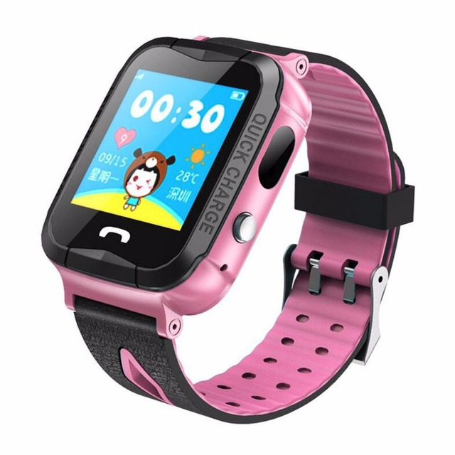 V6 Children Smart Watch With GPS Tracker Camera Anti Lost Monitor SOS Call Waterproof Children Watch For IOS And Android Phone