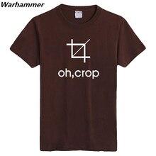 Warhammer Funny T shirts OH CROP GEEK Programmer Print T-shirt Cotton Short Sleeve U.S Size O-neck Gift S-3XL Summer Men T shirt