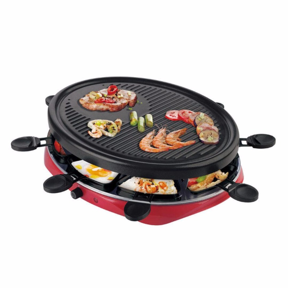 220V Multifuntional 2 Layers Electric Barbecue Grill Smokeless BBQ Electric Pan Grill Griddle EU AU UK