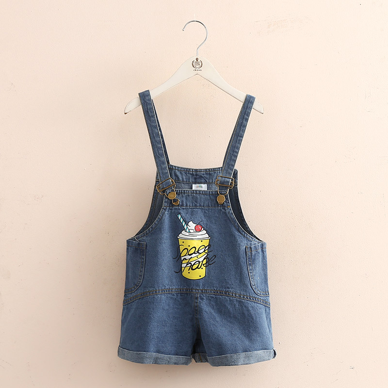 baby cowboy Jumper shorts 2018 Summer clothes Korean version The New Girls Childrens clothing Childrens pants
