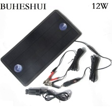 BUHESHUI 4.5W/12W 18V/12V Solar Panel Charger Portable Mono Solar Module For Car Boat Rechargeable Power Battery Charger