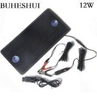 Buheshui 4.5 w/12 w 18 v/12 v 태양 전지 패널 충전기 휴대용 모노 태양 전지 모듈 자동차 보트 충전식 전원 배터리 충전기