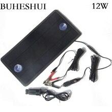 Bunatal módulo solar carregador, 4.5w/12w 18v/12v portátil mono painel solar para carro carregador de bateria recarregável para barco,