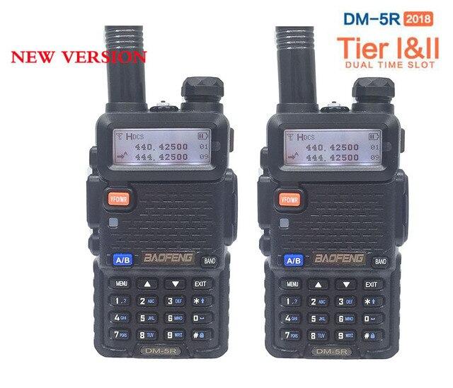 2pcs Newest Digital Walkie Talkie Upgraded Baofeng Dm-5r Dmr Radio  Encryption Vhf Uhf Mobile Dual Band Cb Radio Hf Transceiver