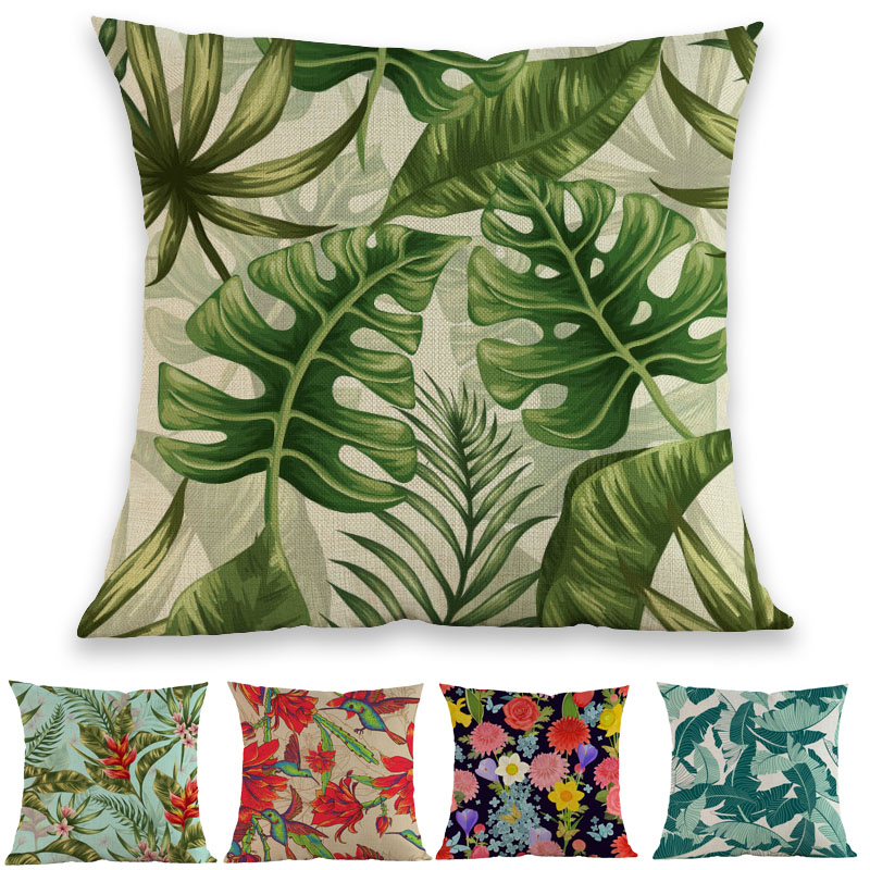 Bright And Colorful Rooms Tropical Style: Watercolor Style Bright Colorful Nordic Tropical Plant