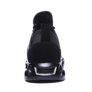 Image 3 - High Quality Casual Shoes Size 10 12 Black Fire Printing Heigh increase Slip on Comfort  Lace up Walking Flat for Men
