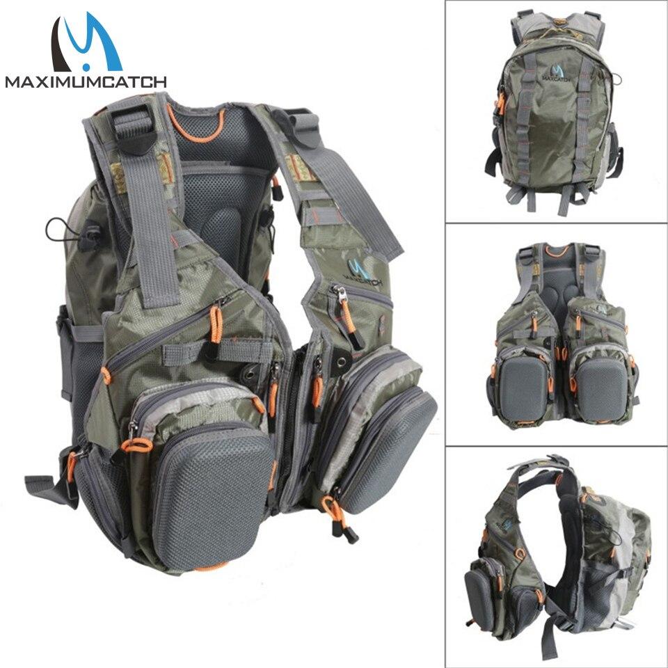 Maximumcatch Fly рыболовный жилет Рыболовная Сумка с несколькими карманами регулируемый размер рыболовный рюкзак