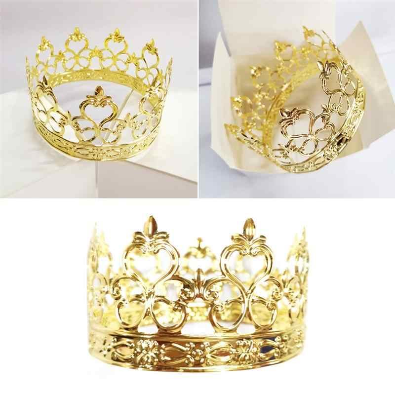 Sensational 1Pc Crown Shape Cake Decoration Iron Diy Prince Princess Child Funny Birthday Cards Online Kookostrdamsfinfo