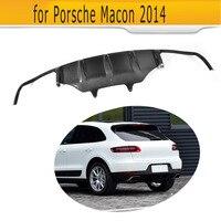 carbon fiber car rear diffuser auto bumper lip diffuser fit for Porsche MACAN 2014
