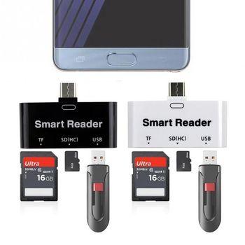 USB C Type C to USB 3.0 OTG HUB Adapter USB/TF/SD- Micro-SD Memory Card Reader