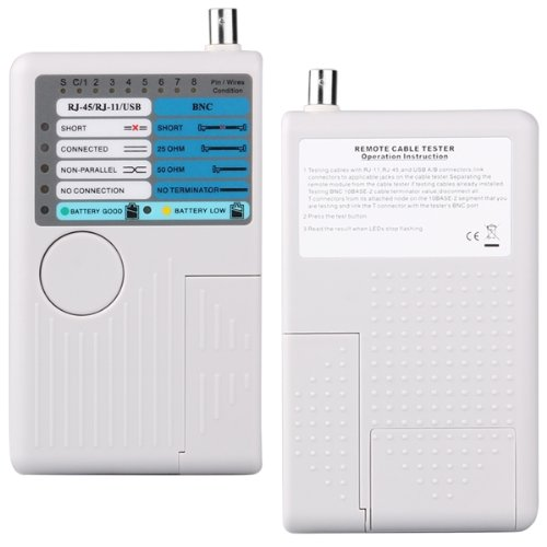 Прочный 4 в 1 RJ11 RJ45 USB LAN Ethernet телефонной сети кабельного тестера
