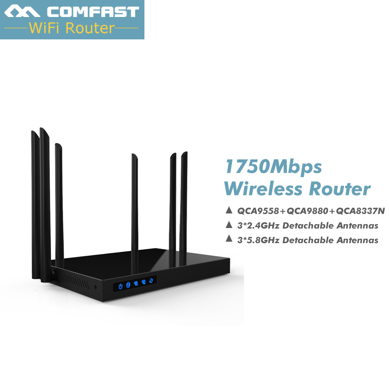 Comfast CF-WR650AC 1750Mbps Dual Band 5.8+2.4G WIFI Router Repeater roteador Wi-Fi 802.11ac Router 6PA+6 WIFI Antenna open ddwrt 1750mbps 2 4g 5 8g dual band ac wifi router enginering ac manage1wan 4lan 802 11ac access point wi fi router comfast cf wr650ac