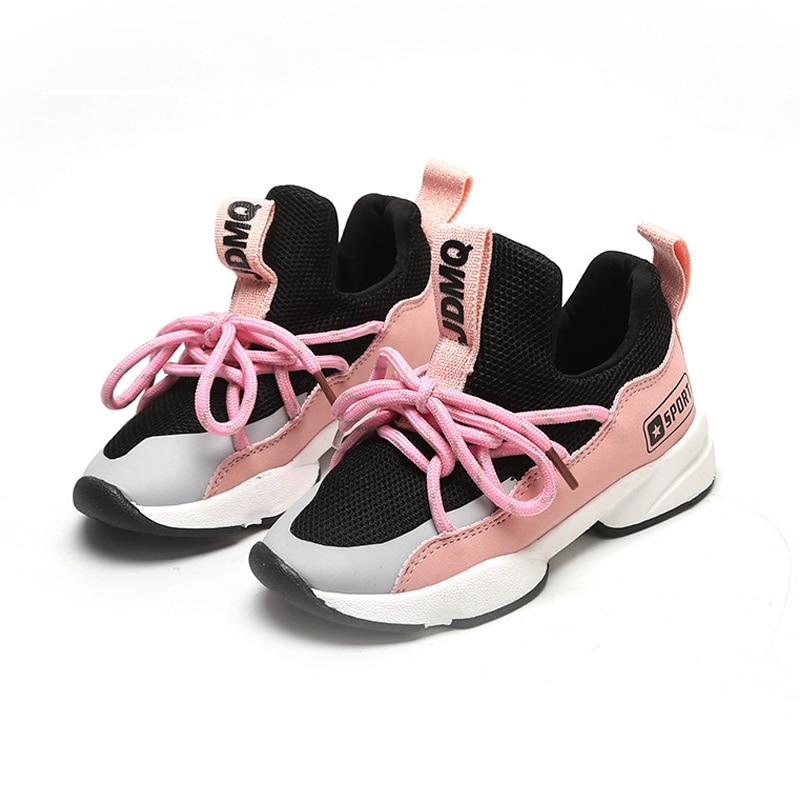 Autumn Summer Children Girl Shoes Soft Kids Running New Design Boy Sneakers Pink Rubber