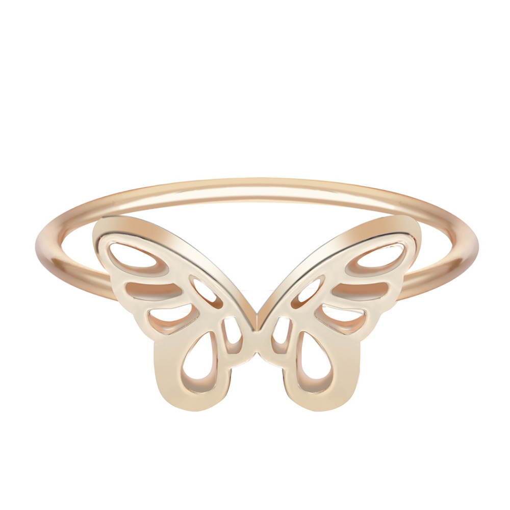 Кольцо Kinitial с изображением животного, бабочки, Угловое кольцо крылья для девушки, подарок на день рождения ручной работы, ювелирные изделия,...
