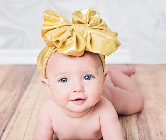 headwrap baby headbands baby headwear girls hair Bowknot Bow Knot hairband head band infant newborn metallic new baby kids girls rabbit bow ear hairband headband turban knot head wraps sweet color headwear for girl hair accessories
