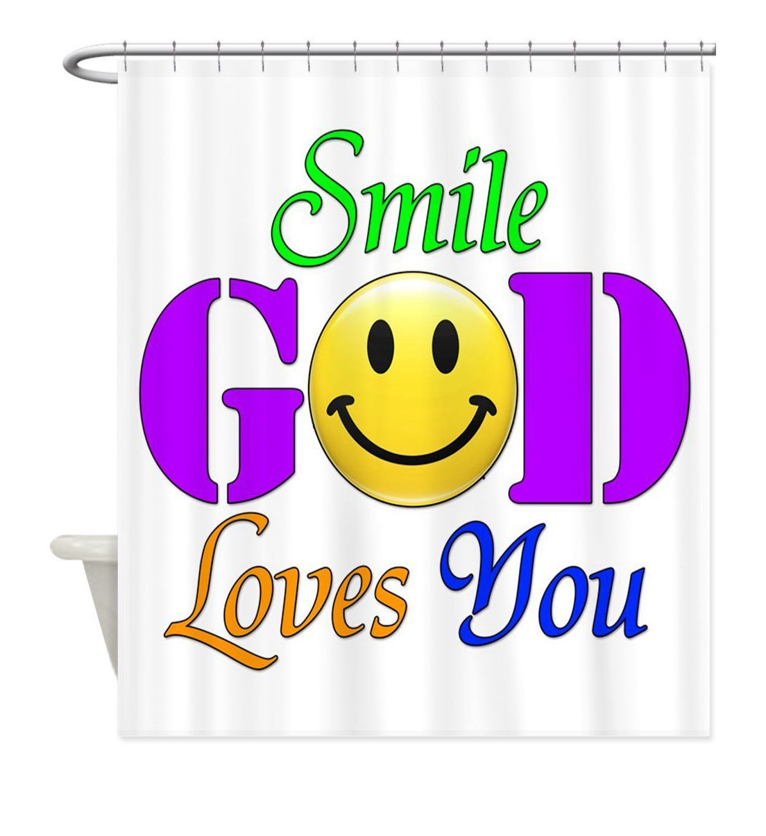 Aliexpress Buy Smile God Loves You I Have Feelings Smile Colorful Bath Bubbles Inspirational Quote Fun Words Lover Decor Art shower curtain from