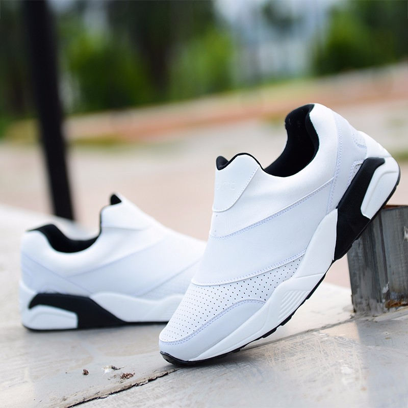 Sport Men Casual Shoes 2016 Fashion PU Leather Flat Leisure Men\'s Shoes Summer Breathable Low Top Shoes Slip On Trainers YD78 (16)