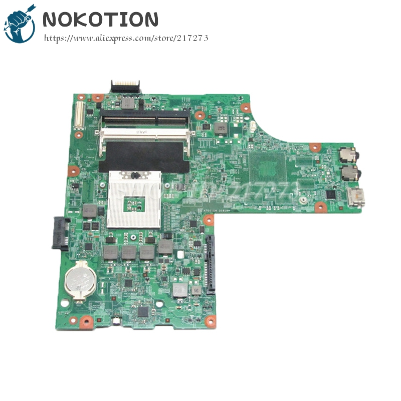 NOKOTION CN-0Y6Y56 0Y6Y56 Y5Y56 48.4HH01.011 Main board For Dell Inspiron N5010 Laptop Motherboard HM57 DDR3 UMA nokotion laptop motherboard for dell vostro 3500 cn 0w79x4 0w79x4 w79x4 main board hm57 ddr3 geforce gt310m discrete graphics