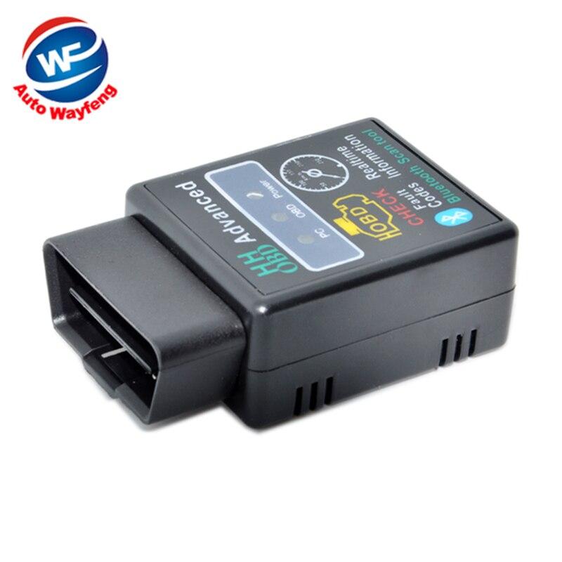 Mini ELM327 V2.1 Bluetooth HH OBD Avancée OBDII OBD2 ELM 327 Auto Voiture De Diagnostic Scanner lecteur de code outil d'analyse chaude vente
