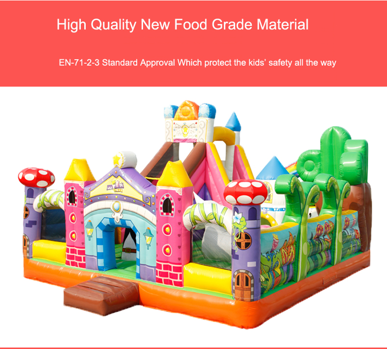 HTB1Y6YEblxRMKJjy0Fdq6yifFXap - You-Toys Huge Commercial Bouncy Inflatable Castle House Magic Garden Bounce House Kids Playground