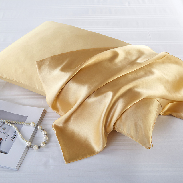 100% Polyester Luxury Covers Silk Pillow Case Cover Satin Pure Pillowcase Bed Pillows Cases Multicolors Pillowcases 51*76cm Soft