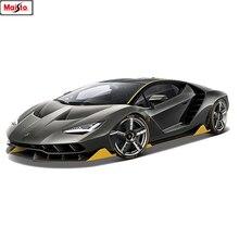 цена на Maisto Hot LP770 1:18 Car Alloy Sports Car Model Diecast  Super Racing Lifting Tail Car Wheels Toys For Children