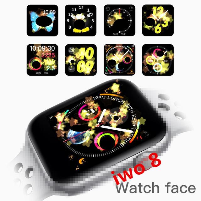 IWO 8  Smart watch 44mm smart watch men women reloj  series 4 1:1  SmartWatch Case for iOS Android VS iwo 6 +earphone+belt gift
