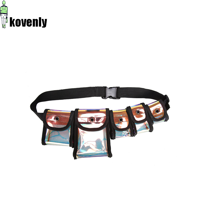 Men Transparent Chest Bag Hip Hop Tactics Bag Multi-pocket Mini Satchel Kanye West Backpack Street Cool Laser Waist Bags 030319