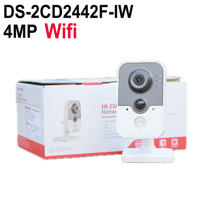 Original Hik English Version 4MP IR Cube Network Camera DS 2CD2442FWD IW Replace DS 2CD2432F IW