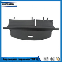 For Jeep Compass 2017 2018 Nylon Polyester Rear Trunk Cargo Cover Security Shield Screen shade High Qualit Car Accessories