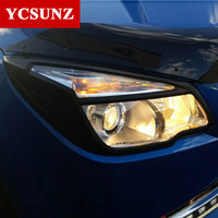 Black Headlights Cover For Chevrolet Colorado 2012 2015 ABS Black Front Lamps Covers For Chevrolet Colorado