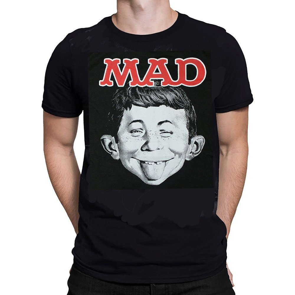 Create Your Own Shirt Short Sleeve MAD Magazine ALFRED T-Shirt Officially Licensed Merchandise Broadcloth Crew Neck T Shirt