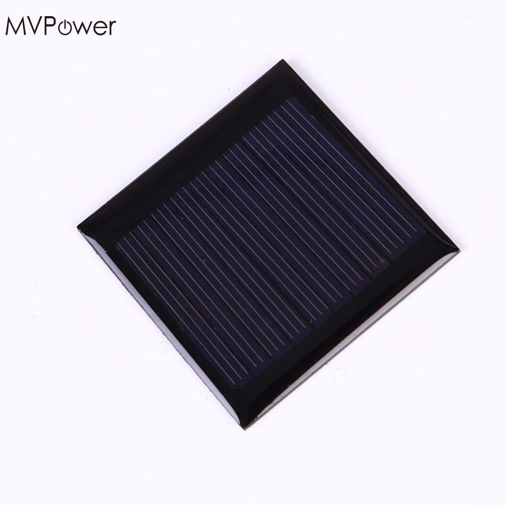 MVPower 0.25W 5V Solar Panel Polysilicon Epoxy Plate Mini Solar Cell Solar Panel Outdoor Camping