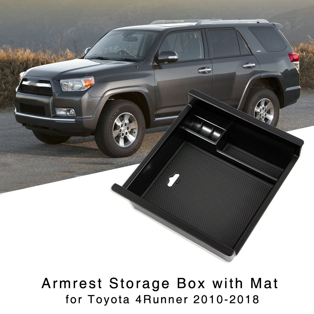 Armrest Storage Box for <font><b>Toyota</b></font> <font><b>4Runner</b></font> 2010 2011 2012 2013 2014 2015 2016 2017 <font><b>2018</b></font> Central Console Glove Tray image