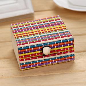 Image 5 - Бамбуковая деревянная настольная корзина для хранения, контейнер для мелочи, органайзер для ювелирных изделий, коробка для хранения, ремешок, ремесло, квадратный чехол, органайзер, чехлы